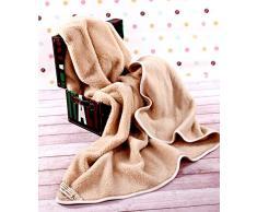 COPERTA IN LANA MERINO COPERTA BAMBINI COPERTA 120 x 150 cm , WOOLMARKED. BAMBINO COPERTA. SINGOLO COPERTA. BEIGE COPERTA. regalo perfetto ! PRODOTTO NATURALE