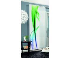 Home fashion Failand Tenda a Pannello, Poliestere, Blu/Verde, 245 x 60 cm
