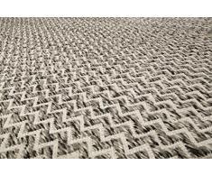 Esprit Home handweb a pelo corto Tappeto in lana | SANDI Kelim ESP 6020 – 02 |, Grigio beige, 160 x 230 cm