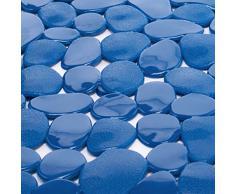 TP-Products - Tappetino da Doccia, in PVC, a Forma di ciottoli, Colore: Blu