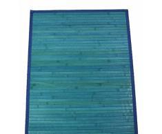 CASA TESSILE bambù Liscio Tappeto passatoia cm 60x300 - Azzurro