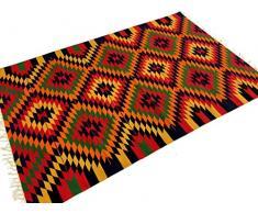 Trendcarpet Kelim Tappeto bhadohi mirz Singapore 140 x 200 cm, Cotone, 140 x 200 cm