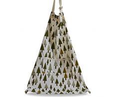 G2PLUS tela di cotone grembiule da cucina da grembiule da cucina grembiule da cuoco Garden mit pizzo con 2 tasche, Cotone, Triangle Tree