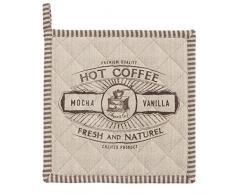 Clayre & Eef BFC45 presina da Cucina Design caffè Hot Coffee Naturale 100% Cotone