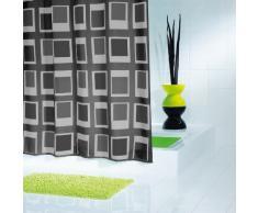 Ridder Up and Down 429300-350 Tenda da doccia in tessuto 180x200 cm colore: Nero