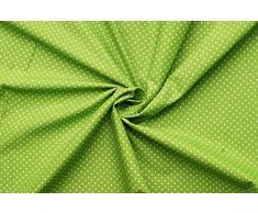 Punto piccolo - tessuto di 100% cotone - punti bianche su fondo colorato - stoffa al metro (verde mela)