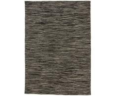 Carpetfine: Tappeto Kelim 80x250 cm Grigio - Cotone - Geometrico