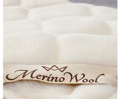 Caro australiano 100% lana merino Coprimaterasso reversibile Coperta Lana Cashmere, Lettino, 140/70 WOOLMARKED 600 gsm