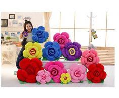 Cuscino a forma di rosa, grande, per divano, decorativo per casa, auto, Cotone, Red, 15 cm
