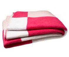 Jollein 514-511-64732 - Coperta, 75 x 100 cm, motivo a quadri, colore: rosa/fucsia/bianco