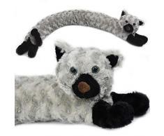 Paraspifferi, parafreddo, cuscino porta a forma di cane o gatto, design in morbido micro pile. Grey Cat