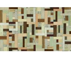 Scrapwood Wallpaper by Piet Hein Eek Tappezzeria in stoffa effetto legno, 1 rotolo 900 x 48,7 cm, colore: Beige