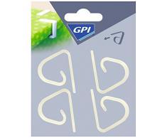 GPI - 4 PINZE BLOCCA TOVAGLIA IN PLASTICA TRASPARENTE