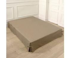 La Redoute Interieurs Coprirete Con Laccetti E Tasche Taglia 160 X 200 Cm Beige