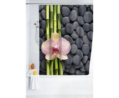 WENKO 20959100 Tenda doccia Spa - fibra tessile di qualità, lavabile , Poliestere, Multicolore