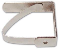 Fermatovaglie in acciaio zincato con Molla Art 721 Nichelato confezione 50 pezzi