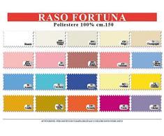 TESSUTO RASO RASETTO AL METRO 100x150 CM VARI COLORI TESSUTO STOFFA CARNEVALE ADDOBBI