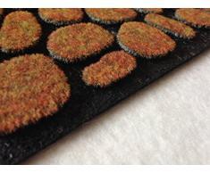 Zerbino 45 x 75 gomma riciclata sassi HOME foglia tappeto fuori porta