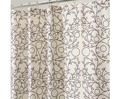 InterDesign Twigz Tenda Doccia, Tessuto, Bianco, 180x0.2x180 cm