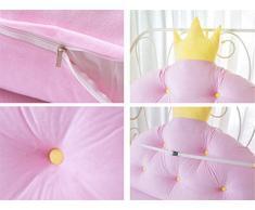 FANG&cuscino Tempo libero Corona stanza principessa capezzale Cuscino cuscino bambino Grande schienale Custodia morbida Cuscino sul letto ( colore : Rosa , dimensioni : 100*80cm )