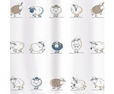 Tatkraft - Tenda da Doccia divertente con motivo con pecore, 180 x 180 cm, in materiale impermeabile PEVA, con 12 Anelli