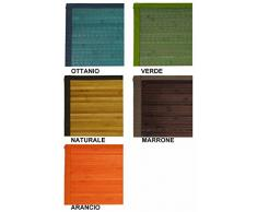 Casa Tessile Bamboo tappeto passatoia bordo in cotone cm 60x280 - ARANCIO