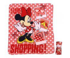 Topolino Minnie Mouse - Coperta Fleece rosso 120 x 140 centimetri