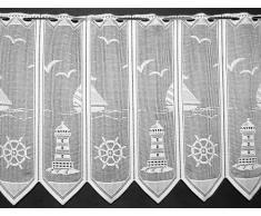 Tendina Mantovana - Faro - Altezza 60cm - Larghezza 30cm - bianco, altezza 60 cm, Jacquard