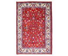 Morgenland Indo Bidjar Tappeto Rosso Annodato a Mano Lana Vergine - Rosso, 90 x 60 cm Zerbino