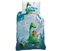 Disney The Good Dinosaur 043726 Set Copripiumino singolo e federa in cotone renforcé, 140 x 200 + 70 x 90 cm