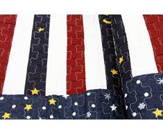 1001 Wohntraum Copriletto Laura 230 x 250 cm Luna Stelle Strisce Plaid Coperta Quilt
