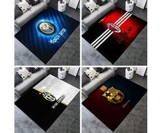 LYJ Tappeto Creativo Calcio Club Logo Stampa Tappetino Antiscivolo Semplice Decorazione D'Arte Tappeto Morbido Addensare/Juventus / 80 * 120CM