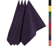 Sidorenko strofinacci cucina cotone 45x75 cm blu monochromatico - Set di asciugamani da cucina di alta qualità in 4 pezzi - Asciugapiatti Premium - stracci cucina in cotone per asciugare - blu