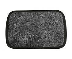 ID Opaco 507502 Astroquadro Tappeto Zerbino in polietilene/Gomma, 75 x 50 x 2,1 cm, Grigio, 50 X 75 cm