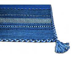 Centesimo Web Shop Tappeto, Cotone, Blu, 60 x 200 cm