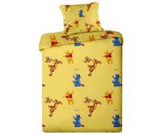 Jerry Fabrics per Bambiny Biancheria da Letto, 100% Cotone, Giallo, 130x90x0.5 cm