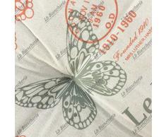 Cuscino Arredo Mattonella tipo materassino Butterfly farfalle Shabby Country chic cm 42x42x10 - Salmone