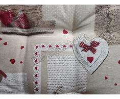 cuscino sedia con lacci miros holly tirolese country chic cm 40x40 made in