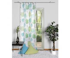 Home fashion 48048-835 - Tenda a passanti, in voile, 245 x 140 cm, colore: azzurro