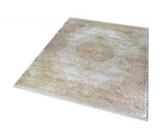 Merinos Tappeto Oriente di Alta qualità con Ornamenti Classici in Beige Größe 80 x 300 cm