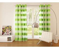 Splendid Collezione FLORENCE - Tenda con occhielli, 140 x 245 cm, colore verde