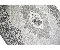 Designer e tappeto moderno tappeto soggiorno oriente in grigio beige crema Größe 80 x 300 cm