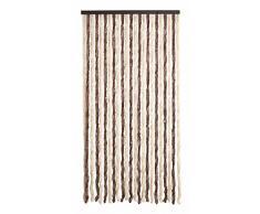 TENDA IN CINIGLIA MOSCHIERA PER PORTA FINESTRA BALCONE TERRAZZO BEIGE/MARRONE L120xH230CM