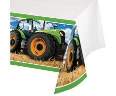 Creative Convertting Tovaglia plastica 137 x 259 cm Trattore-Tractor Time, Multicolore, 54 x 102