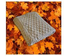 100% coperta di lana con design in maglia a nido d' ape Skiddaw