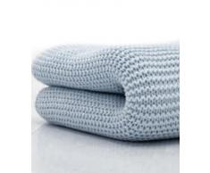 Belledorm - Coperta di lana a maglie larghe per letto matrimoniale, 100 % cotone, colore: Blu