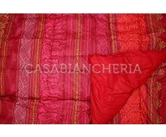 Bassetti Trapunta Matrimoniale Granfoulard Urbino-Rosso