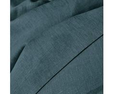 La Redoute Interieurs Unisex Copripiumone Lino Lavato Taglia 200 X 200 Cm Blu