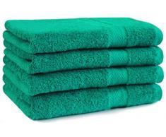 Asciugamano 50x100 in Spugna PREMIUM, colore: Verde smeraldo, qualità 470 g/m²