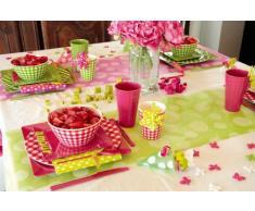 Runner da tavola a pois, verde mela con grandi pois bianchi, 30Â cm, 5Â m rotolo, tavolo decorazione MATRIMONIO addii al celibato/barbecue sera